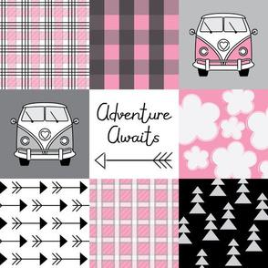 vintage pink camper van wholecloth
