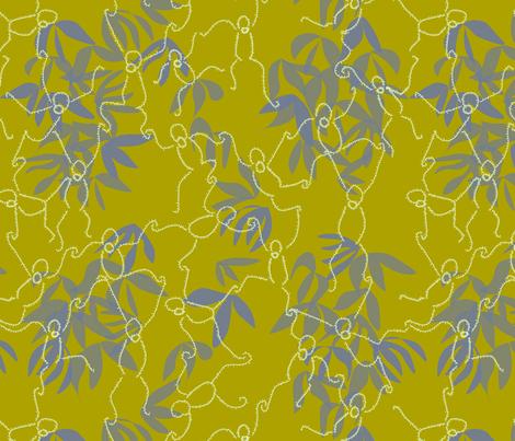 Swingin Orangutans fabric by goatfeatherfarm on Spoonflower - custom fabric
