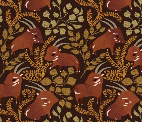 Saola fabric by ceciliamok on Spoonflower - custom fabric