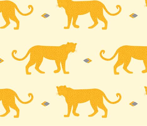 Amur Leopard fabric by alexpond on Spoonflower - custom fabric
