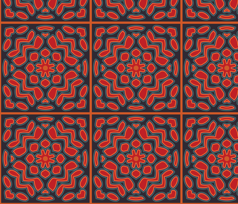 Moroccan Night Tiles fabric by nettieandliz on Spoonflower - custom fabric