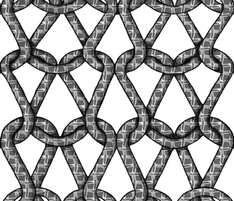 endless knots (BW)  fabric by chicca_besso on Spoonflower - custom fabric