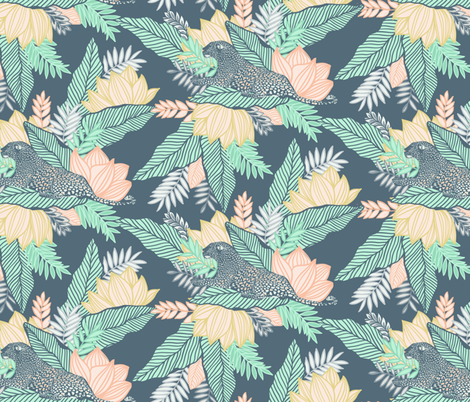 Pastel Jungle Leopard fabric by gwendegroff on Spoonflower - custom fabric