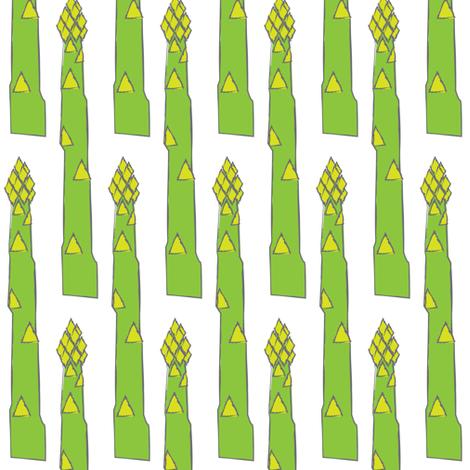 asparagus stalks fabric by lilcubby on Spoonflower - custom fabric