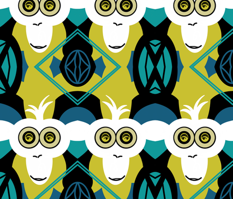 Ode to Endangered Primates fabric by sewindigo on Spoonflower - custom fabric