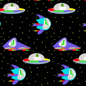 Alien Space Travel black