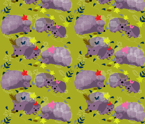 Endangered Hedghogs fabric by paula's_designs on Spoonflower - custom fabric
