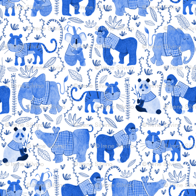 Pattern #80 - Endangered animals in shirts
