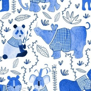 Pattern #80 - Endangered animals in shirts