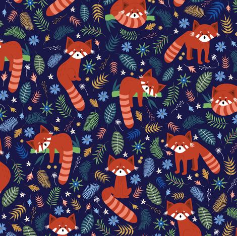 Red Panda fabric by juniperr on Spoonflower - custom fabric