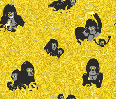 Gorillas and bananas. Endangered Species by unPATO