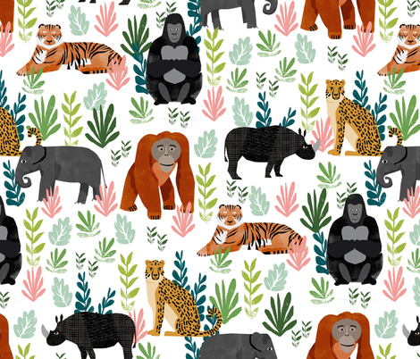 Endangered Species by Andrea Lauren fabric by andrea_lauren on Spoonflower - custom fabric