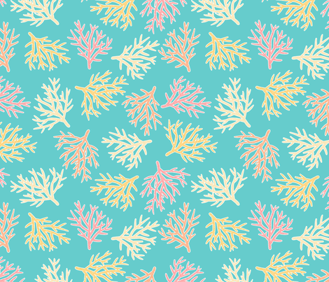 Staghorn Coral Conservation fabric by peartreetrail on Spoonflower - custom fabric