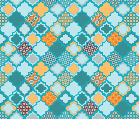 Tiles of Marrakesh fabric by groundnut_apiary on Spoonflower - custom fabric