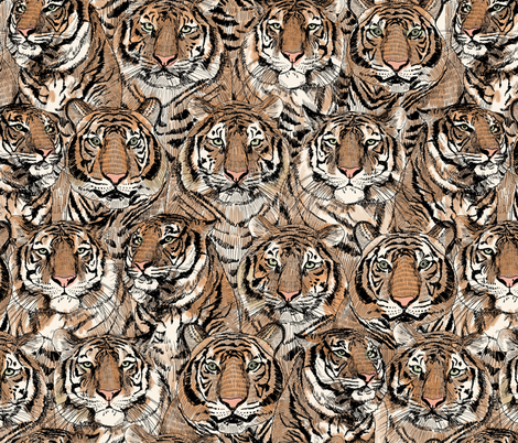 Tigers fabric by patterngirl on Spoonflower - custom fabric