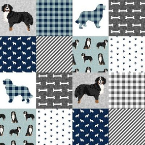 bernese mountain dog (2 Inch)  pet quilt b cheater quilt dog wholecloth fabric