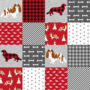 cavalier king charles spaniel blenheim (2 Inch) pet quilt a cheater quilt collection