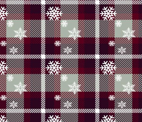 Snowflake plaid fabric by krystalsavage on Spoonflower - custom fabric