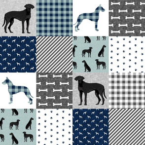 great dane black pet quilt b cheater wholecloth collection
