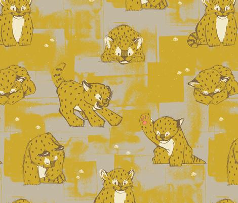 Amur Leopard Cubs by Friztin fabric by friztin on Spoonflower - custom fabric
