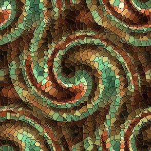 Autumnal Mosaic Wave (dark)