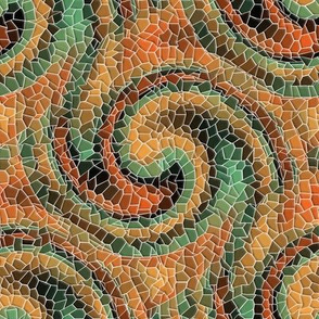 Autumnal Mosaic Wave (light)