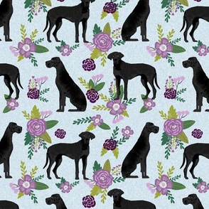 great dane black pet quilt c  collection coordinate floral