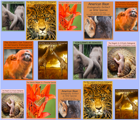 Endangered Species-Spoonflower fabric by blythe_ayne's_fabric_designs on Spoonflower - custom fabric