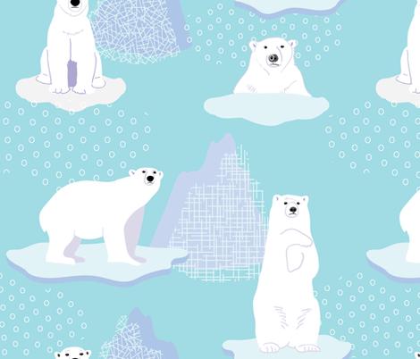 Save the Polar Bears fabric by kimbliss on Spoonflower - custom fabric