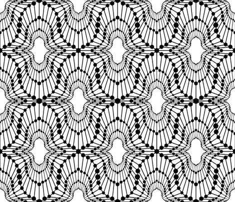 Wild Nights Black on White fabric by artsytoocreations on Spoonflower - custom fabric