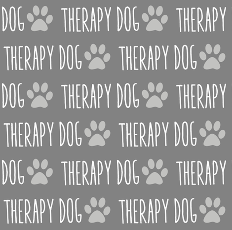 Therapy Dog Gray fabric by brainsarepretty on Spoonflower - custom fabric