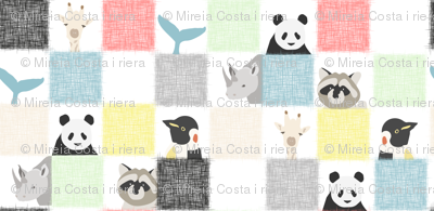 Checkerboard animals