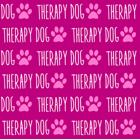 Therapy Dog Pink fabric by brainsarepretty on Spoonflower - custom fabric