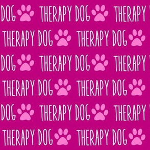 Therapy Dog Pink