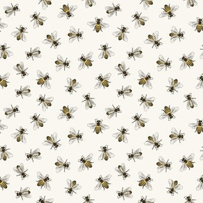 Honey Bees - Small - H White