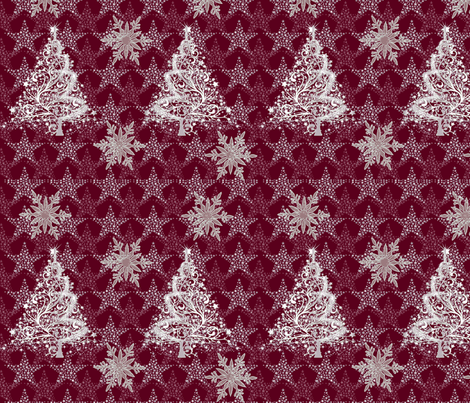 trees_n_stars_n_flakes fabric by quizzicalkittydesigns on Spoonflower - custom fabric