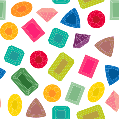 Colorful Gems fabric by jannasalak on Spoonflower - custom fabric