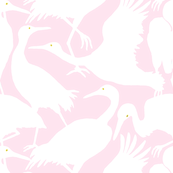 WHOOPING CRANES pink large scale
