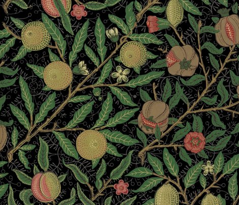 Fruit___william_morris___original_on_black___peacoquette_designs___copyright_2018_shop_preview