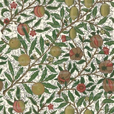 Fruit ~ William Morris ~ Original on Cosmic Latte