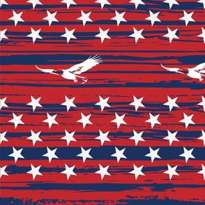 woodgrain.flag.eagle