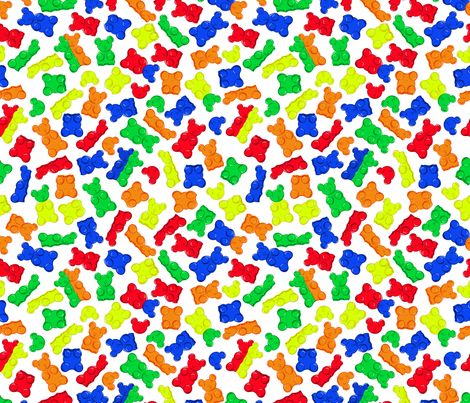 macabre gummy bears fabric by b0rwear on Spoonflower - custom fabric