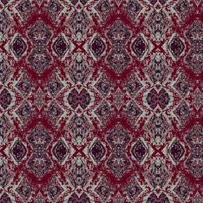 Elegant Dinner Party Ikat, limited palette abstract Ikat