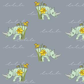 White Rhino March Daffodils - Medium Scale