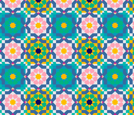 The Beauty of Marrakesh  fabric by krystalsavage on Spoonflower - custom fabric