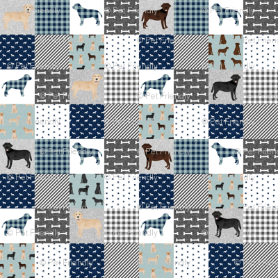 Labradors (2 inch) pet quilt b cheater wholecloth dog breed fabric