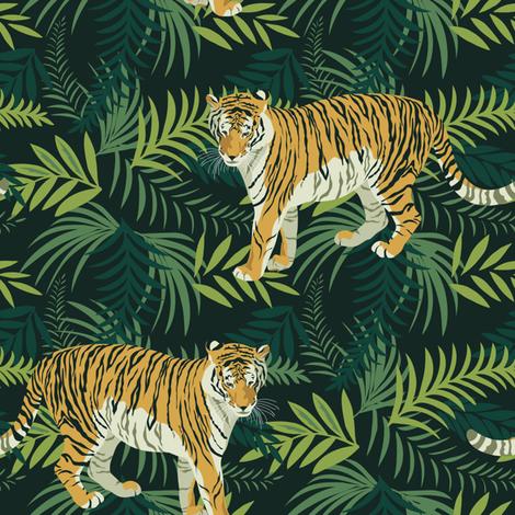 Amur tiger fabric by olgart on Spoonflower - custom fabric