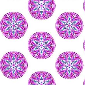 Tumbling Balls of Brightness on White - Medium Scale