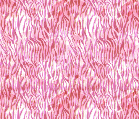 zebra glow hot pink fabric by schatzibrown on Spoonflower - custom fabric