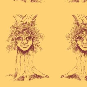 I tree - Turrong/dryad- Terracotta on mango -paired